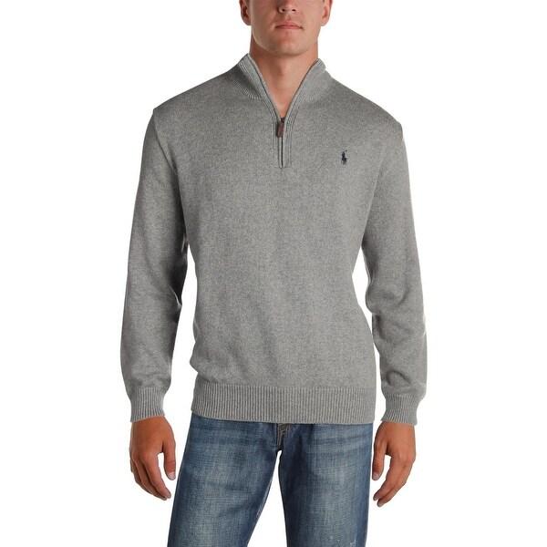 1debcfc9054 Shop Polo Ralph Lauren Mens Big   Tall 1 2 Zip Sweater Mock Neck ...