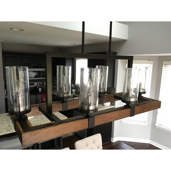 Shop The Gray Barn Vineyard Metal And Wood 6 Light Chandelier With