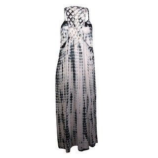 Raviya Women's Lattice Back Tie Dye Dress Coverup (0X, Grey) - 0X