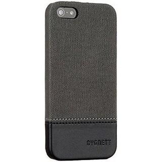 Cygnett CY1487CPSNA Iphone 5S Case Thread Suede - Grey & Black