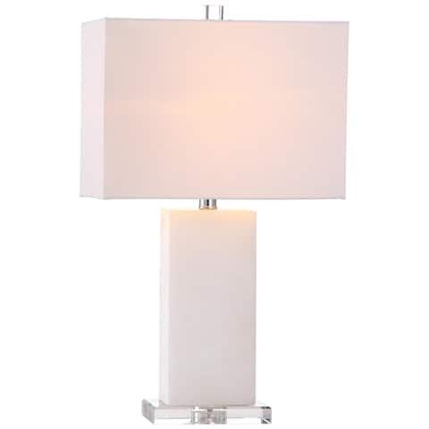"SAFAVIEH Lighting 24-inch Martin Marble Table Lamp - 14""x8 ""x24"""