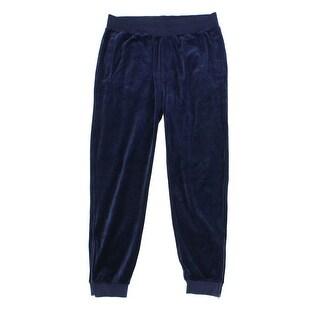 Sean John NEW Navy Blue Mens Size 3XL Big & Tall Pull-On Velour Pants