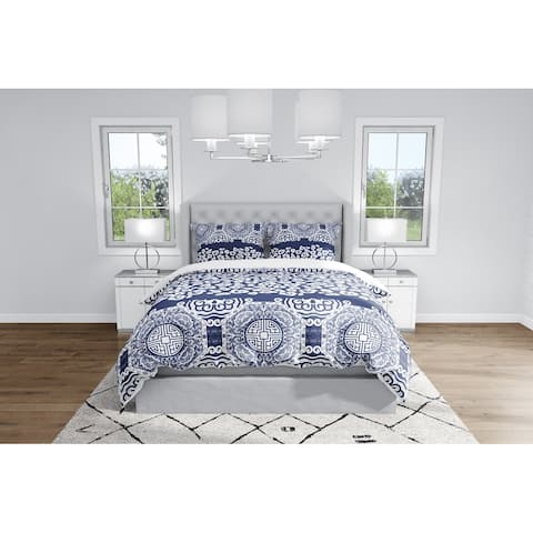 MING LEOPARD NAVY & WHITE Duvet Cover By Kavka Designs
