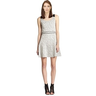 Marc by Marc Jacobs Heather Leopard Stretch Jacquard Cocktail Day Dress - 2
