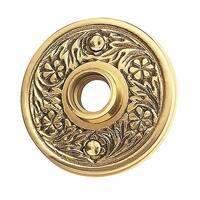 Pair Victorian Rosette Cast Antique Brass 2 7/16 | Renovator's Supply
