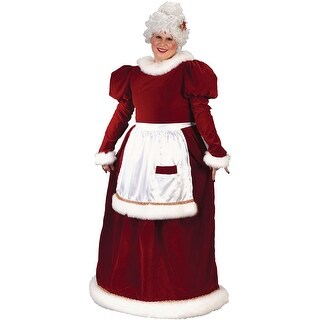 Fun World Velvet Mrs Claus Plus Size Costume - Red - 16-24