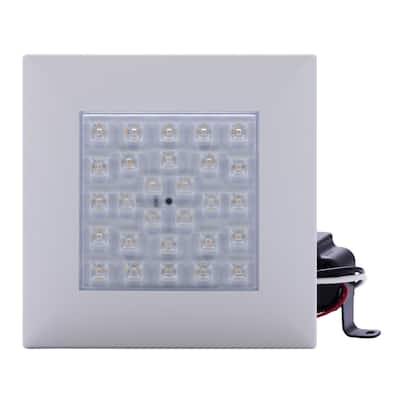"""4"""" 8W Square Dimmable Downlight Clear Lens/ Color Trim 4000K LED Flush Mount"""