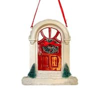 Holiday Door With Wreath Christmas Ornament #W7111