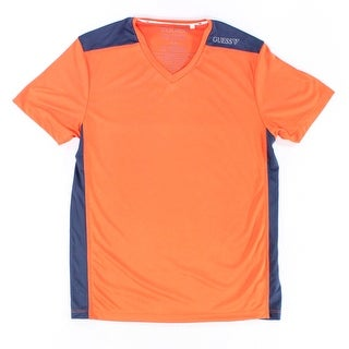 Guess NEW Orange Navy Blue Mens Size Medium M Athletic V-Neck Shirt|https://ak1.ostkcdn.com/images/products/is/images/direct/a8bdef0ab8c7bca2c04bb75cf5fce94ecceb427e/Guess-NEW-Orange-Navy-Blue-Mens-Size-Medium-M-Athletic-V-Neck-Shirt.jpg?_ostk_perf_=percv&impolicy=medium