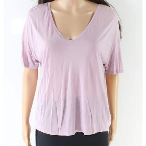 Bella Luxx Purple Women's Size Small S V-Neck Loose Fit Knit Top