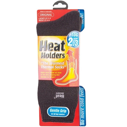 Heat Holders LHHORGCHA Ladies Thermal Socks, Gray