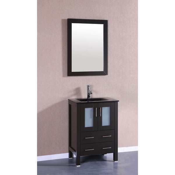 Shop Bosconi A124bgu 24 Free Standing Vanity Set With Wood Cabinet