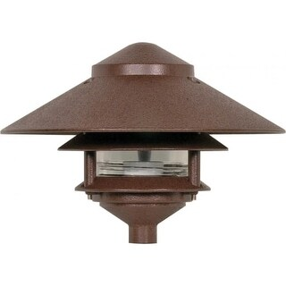"""Nuvo Lighting 76/635 Single Light 9"""" Two Louver Pathway Light with Large Hood"""