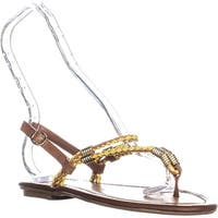 CL Chinese Laundry Clementina Thong Sandals, Tan/Yellow - 8 us / 39 eu