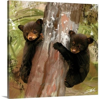 """Two Cubs"" Canvas Wall Art"
