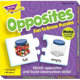 Trend Enterprises Opposites Puzzle Set