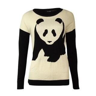 Kensie Women's Panda Color blocked Knit Sweater