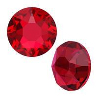 Swarovski Crystal, Round Flatback Rhinestone Hotfix SS16 3.8mm, 50 Pieces, Scarlet