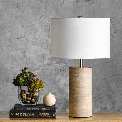 """nuLOOM Berry 21"""" Traditional Wood Table Lamp"""