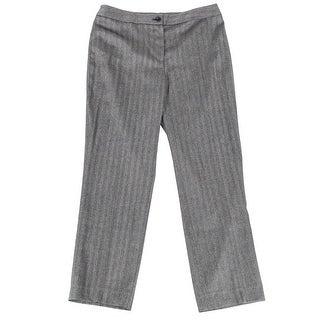Jones New York NEW Gray Women's Size 8 Herringbone Stretch Dress Pants