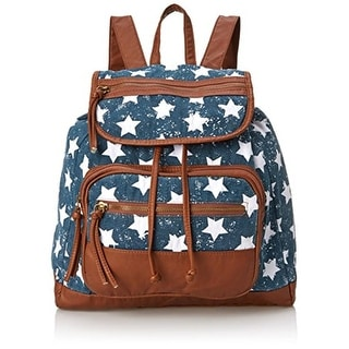 T-Shirt & Jeans Womens Canvas Star Print Backpack