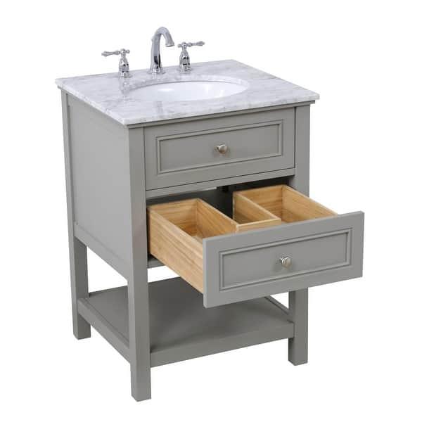 24 In Single Bathroom Vanity Set Overstock 25445232