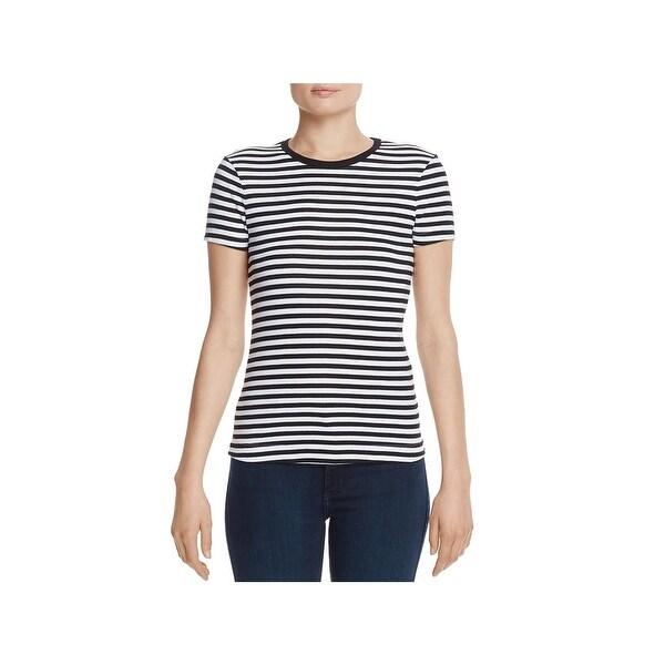 b247d179 Shop Three Dots Womens Kennedy T-Shirt Striped Short Sleeve - Free ...