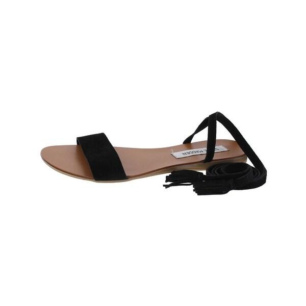 Steve Madden Womens Kensie Flat Sandals Open Toe Tassel
