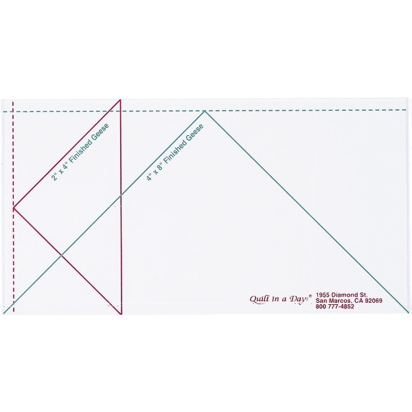 Quilt In A Day Flying Geese Ruler-Large