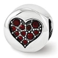 Sterling Silver Reflections Swarovski Elements Jan-Faith Bead (4mm Diameter Hole)
