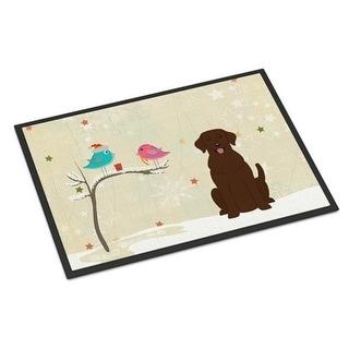 Carolines Treasures BB2528JMAT Christmas Presents Between Friends Chocolate Labrador Indoor or Outdoor Mat 24 x 0.25 x 36 in.