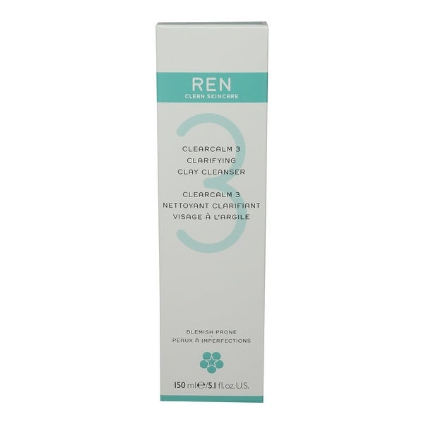 REN Skincare Clearcalm 3 Clarifying Clay Cleanser 5.1 Oz
