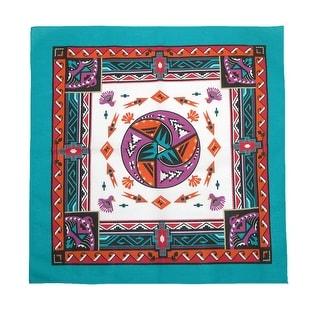 CTM® Women's Cotton Aztec Turquoise Bandanas - One Size