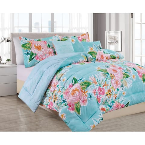 BARBARIAN by Barbra Ignatiev Digital Printed Boundless Floral 4/5pc Comforter Set