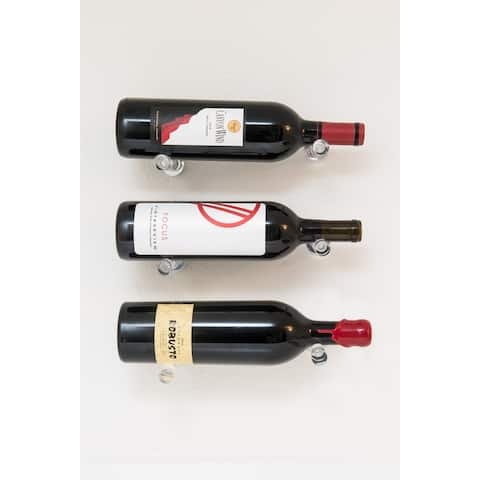 VintageView VPC-DESIGN-3-A Vino Series 3 Bottle Capacity Wall Mounted - Clear