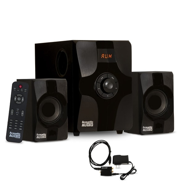 Acoustic Audio AA2131 Bluetooth Home 2.1 Speaker System with Optical Input