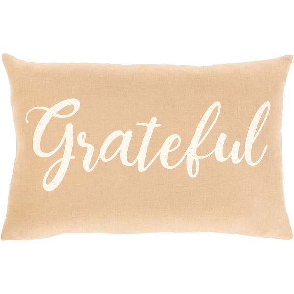 Porch Den Vernonia Linen Grateful Lumbar Throw Pillow On Sale Overstock 30103562