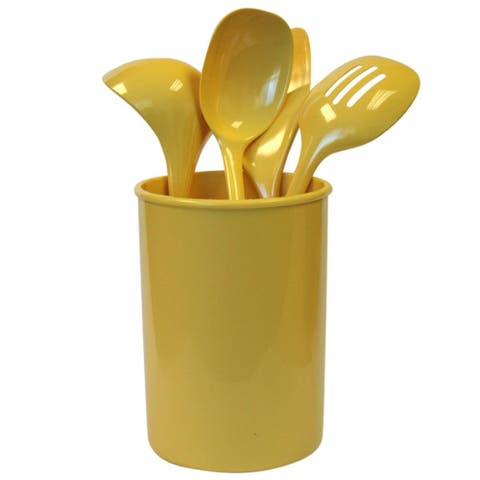 Reston Lloyd 82921 5-Piece Calypso Basics Utensil Holder Set, Lemon
