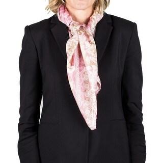 Versace Women's Silk Floral Animal Pattern Scarf
