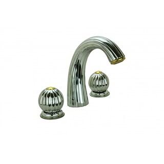 Bathroom Shell Faucet Chrome Widespread Dual Ball 2 Handles Renovator's Supply