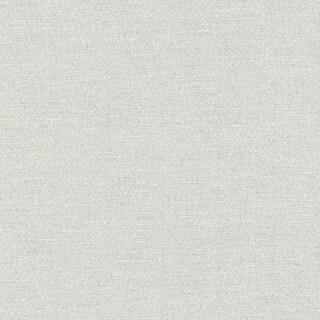 Brewster 495-69054 Carroll Silver Canvas Texture Wallpaper