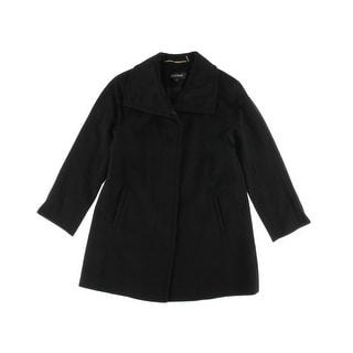 Ellen Tracy Womens Petites Wool Raglan Sleeves Coat - 4P