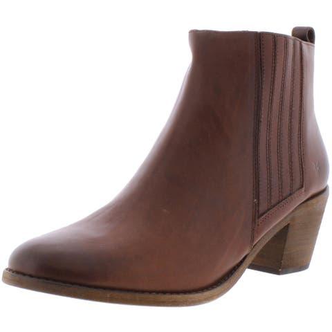 Frye Womens Alton Chelsea Boots Leather Ankle - Cognac