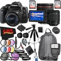 Canon EOS Rebel T6i DSLR Camera with 18-55mm Lens (Intl Model) and Canon EF 24-70mm f/4L IS USM Lens