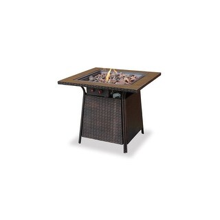 Blue Rhino UniFlame Propane Tile Gas Fire Pit Table Propane Gas Fireplace