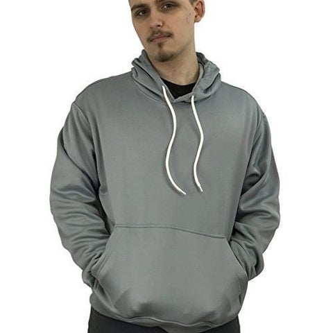 Athletic Mens Comfort Fleece Pullover Hooded Sweatshirt HD1