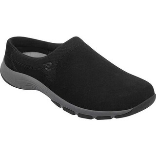 Easy Spirit Women's Cedar Slip On Black Textile/Suede