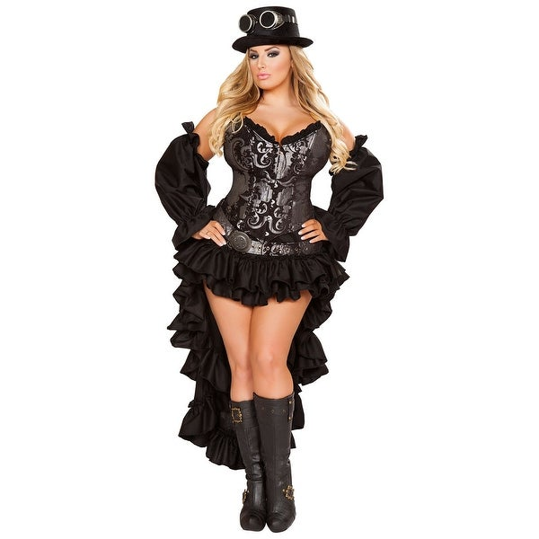 Plus Size Hoty Steampunk Maiden Costume, Plus Size Hoty Steampunk Costume