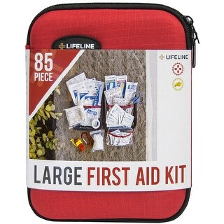 Lifeline Large Hard-Shell Foam Case First Aid Kit - 85 Pieces
