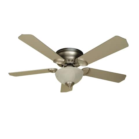"Craftmade K10777 Universal Hugger 52"" 5 Blade Ceiling Fan - Blades and - Brushed Nickel"